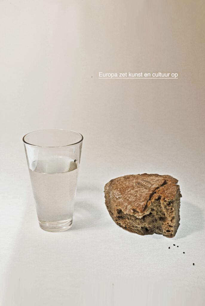 Op water en Brood - Affiche Gallery Den haag    Zoom ⊕ edible bread sticker